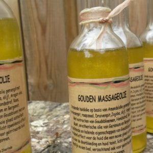 kruiden massage en huid olien